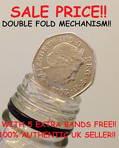COIN IN BOTTLE / FOLDING COIN 50p