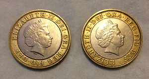 Double Sided Coin £2 [Heads or Tails