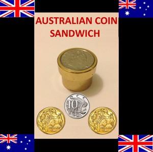 Magic Copper Sandwich ($1 - 10c) [Australian Coin Version]