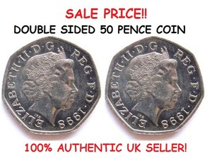 Double Sided Coin 50p / 50 Pence Coin [Double Headed / Double Tailed Coin]