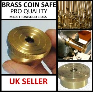 BRASS COIN SAFE - MAGIC TRICK - PRO QUALITY