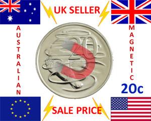 MAGNETIC 20 cent AUD AUSTRALIAN DOLLAR MAGIC TRICK COIN