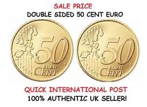 DOUBLE SIDED 50 CENT EURO COIN