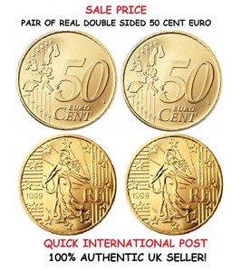 Double Sided Coin (50 CENT EURO Heads + Tails)