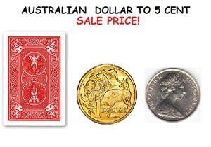 Magic Australian Dollar to 5 cent Trick / Dollar coin transforms to a 5cent coin