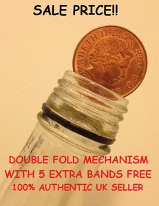 MAGIC COIN IN BOTTLE / FOLDING COIN 2p (Double Fold)