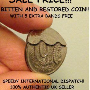 Bitten Australian 10 cent coin