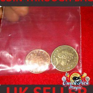 coin thru bag, melting coin,