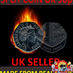 50 pence Coin thru bag magic