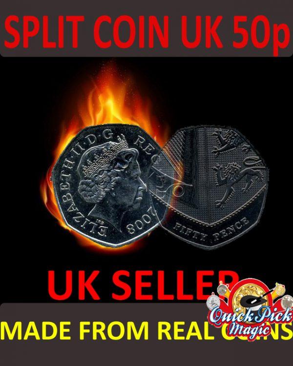50 pence Coin thru bag magic