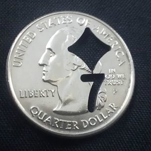 US QUARTER CUT OUT COIN MAGIC