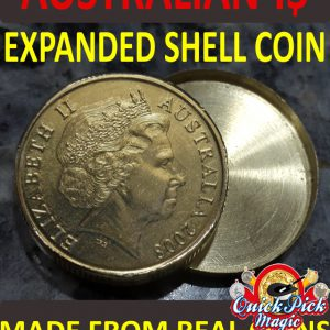 Australian 1 $ expanded shell coin