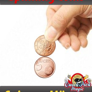 spinning coin 5c euro